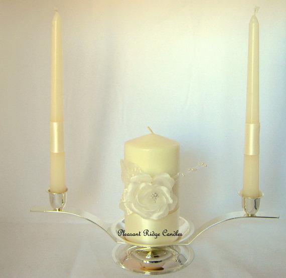 Hochzeit - Ivory Unity Candle Wedding Candle Rose Unity Candle Cheap Unity Candle Wedding Unity Candle White Unity Candle Size & Color Choice