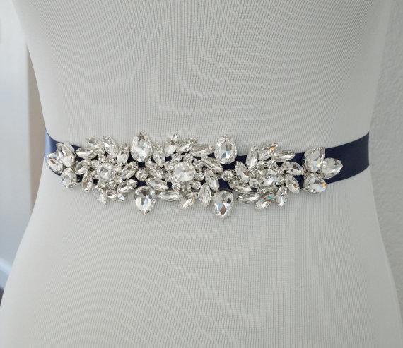 Mariage - Wedding Sash, Wedding Belt, Bridal Belt, Sash Belt, Crystal Rhinestone Belt, Style 117