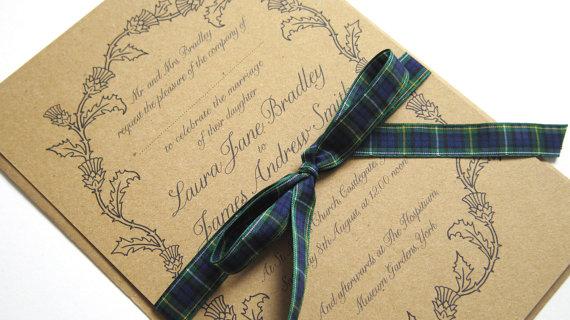 Scottish Thistle Wedding Invitation Sample 2295259 Weddbook
