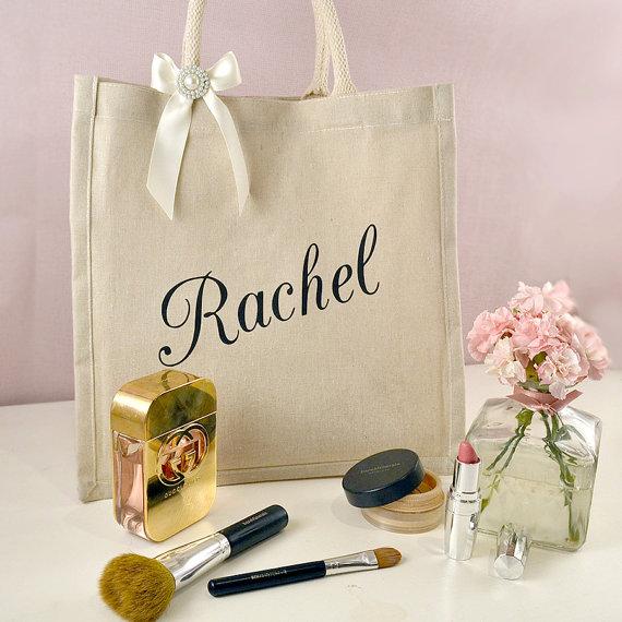 Rustic Ivory Pearl Large Bridesmaid Gift Bag