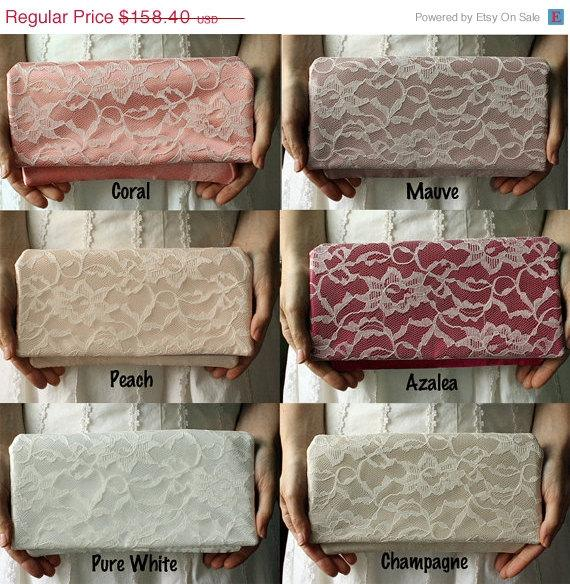 Mariage - Memorial Day Sale 10% off 4 Bridesmaid Clutches - Spring Blush Collection - Custom Wedding Clutches