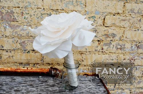 """Mariage - Single Flower Bouquet Tutorial- """"Bliss"""" Millinery Flower Pattern"""