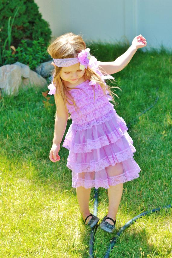 Lavender Toddler Flower Girl Dresses 112