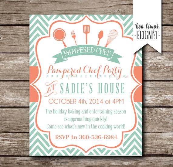 pampered chef party invitation bridal shower invitation pampered chef bridal shower invite kitchen bridal shower printable invite