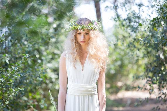 Hochzeit - Rustic chic Bridal Gowns, wedding dress, ivory bridal gown, woodland wedding dress, long white dress, marriage, weddings, long bridal gowns