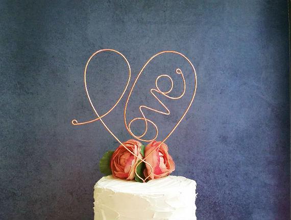 Wedding - Personalized - LOVE - Wedding Cake Topper - Custom Wedding Cake Topper, Weddings Cake Decoration, Personalzied Wedding Cake Decoration