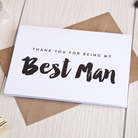 Thank You For Being My Best Man Card Bridesman Groomsman Usher Bridal Party Wedding Cards