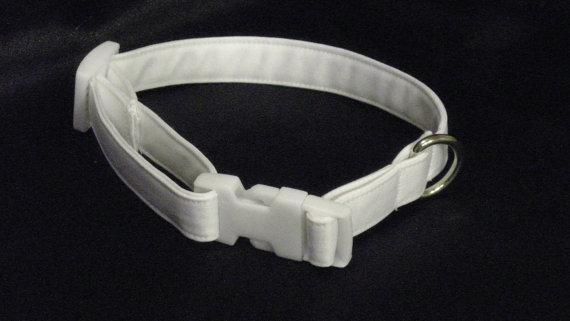 """Свадьба - Medium Wedding Dog Collar 3/4"""" Wide 11-15"""""""