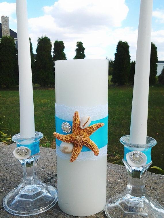 Wedding Seashell Unity Candle