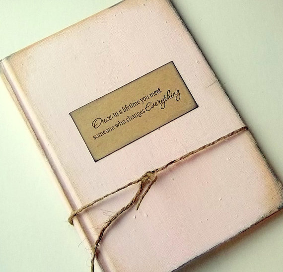 Fairytale Book Wedding Invitation Blush Pink Rustic Shabby Unique Sample