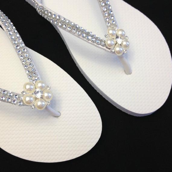 f2f5449e72e9fd Bridal Flip Flops
