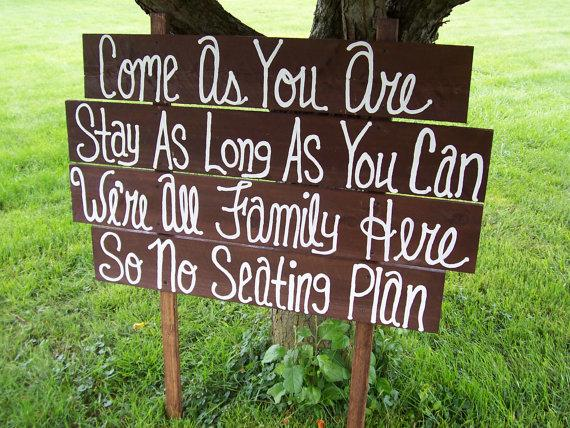 wedding signs come as you are huge rustic wooden beach decorations