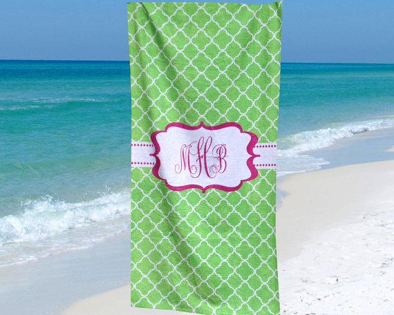 Large Monogrammed Beach Towels.Beach Towel Monogram Beach Towel Personalized Beach Towel