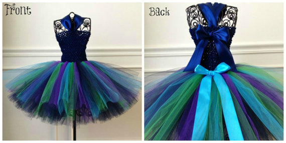 Свадьба - Peacock Flower Girl Dress