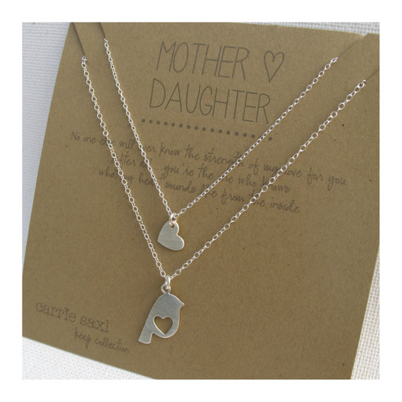 Mariage - Mother Daughter Necklace Set - sterling silver - mother's day - jewelry gift -  mother daughter jewelry - mother gift - wedding gift