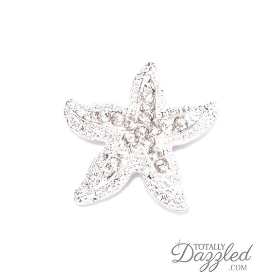 Свадьба - 1pc Starfish Flatbacks, Wholesale Rhinestone Beach Wedding Invite Flip Flops DIY Crafts Wedding Decoration Bouquet Charm, Flat Back 545-S