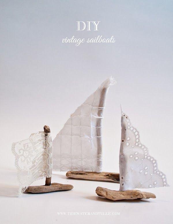 Wedding - DIY Vintage Nautical Sailboat Favors