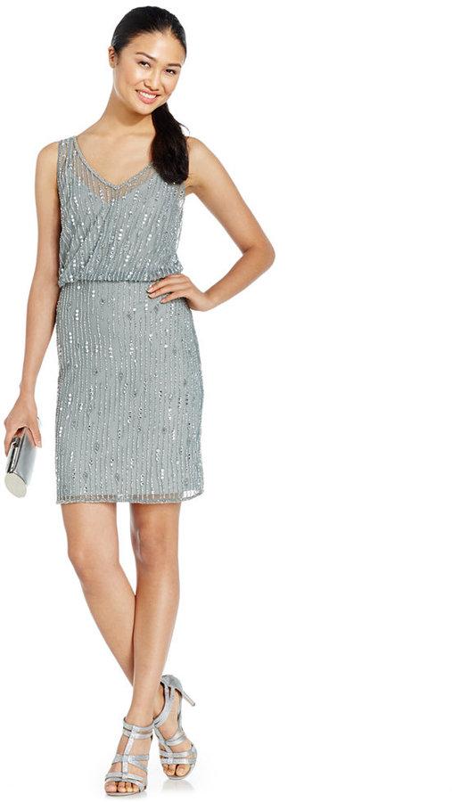 Adrianna Papell Beaded Blouson Dress #2296520 - Weddbook
