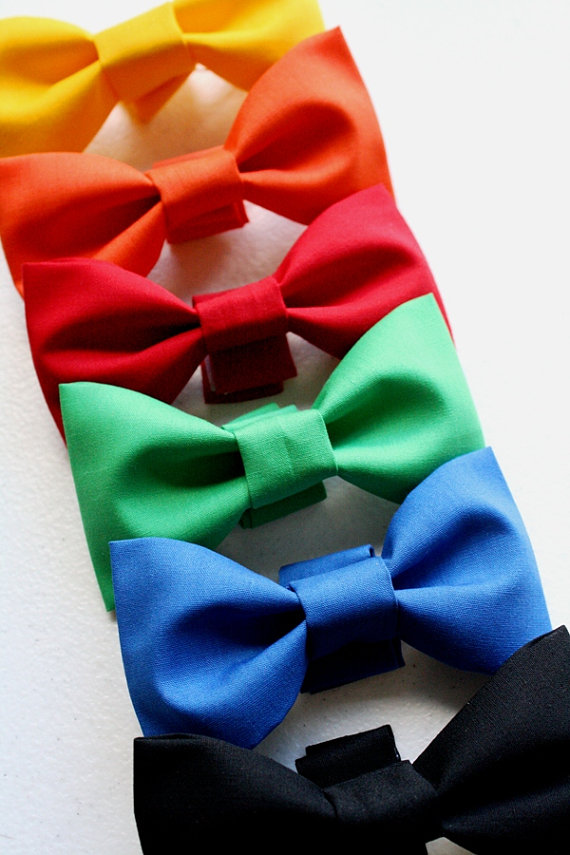 Mariage - Dog Bowtie Cat Bow Tie Wedding Holiday Black Red Blue Green Orange Yellow Removable