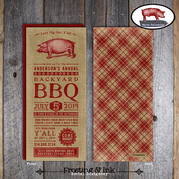bbq invitation backyard bbq invitation barbecue invitation cookout invitation july 4th invitation memorial day invite printable