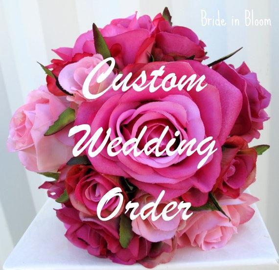 زفاف - Reserved for - Tracey Kachur - Lime green, Royal blue calla wedding bouquet set