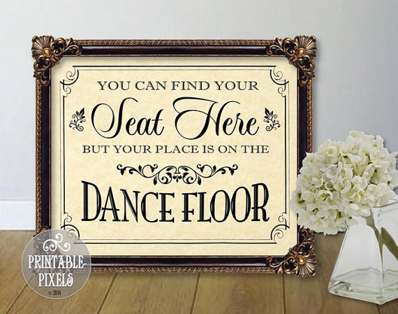 Свадьба - You Can Find Your Seat Here Printable Wedding Sign  // Parchment // 5 Sizes // DIY Instant Download PDF // Ready To Print
