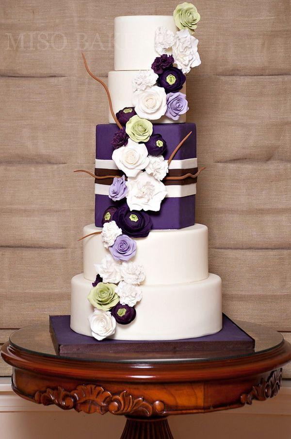 Mariage - Purple Wedding Cakes