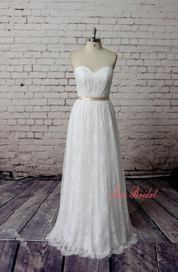 Hochzeit - lace,Custom,Wedding Gown, Classic Lace Bridal Gown, Transparent Train Wedding Dress, Wedding Dress,Wedding Gown