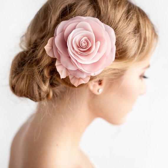 Blush Pink Hair Flower