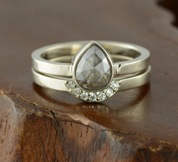 vintage dana diamond rose wedding inspired unique products ken s grey rings stone cut rough ring delilah gold three engagement design