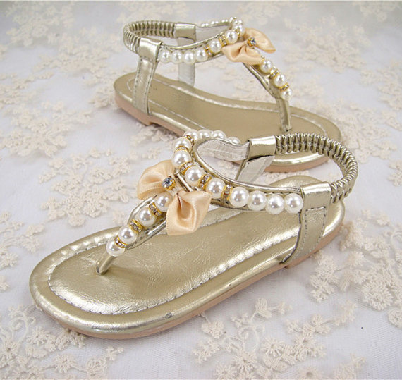 Flower Shoes Pearl Wedding Erfly Pink Pearls Dance Little Bridesmaid