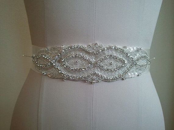 Mariage - Wedding Belt, Bridal Belt, Bridesmaid Belt, Bridesmaid Belt, Crystal Rhinestone - Style B1104