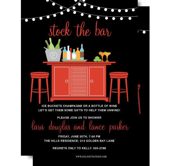 زفاف - RESERVED FOR BETH - Stock the Bar Couples Shower Invitation