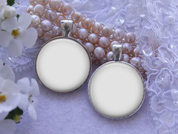 silver round double sided pendant wedding charm digital photo