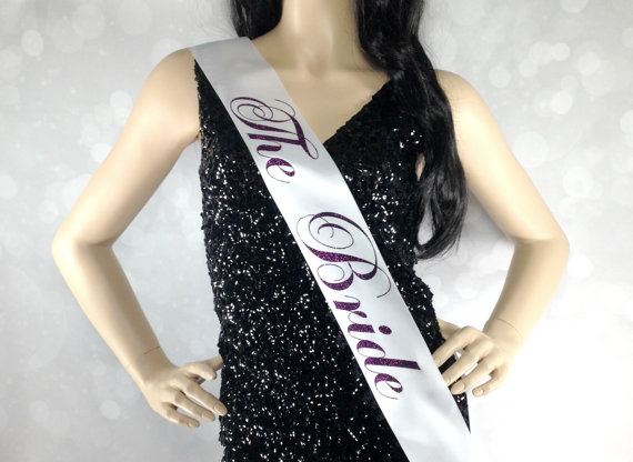 The Bride Sash Bachelorette Party Satin To Be Accessory