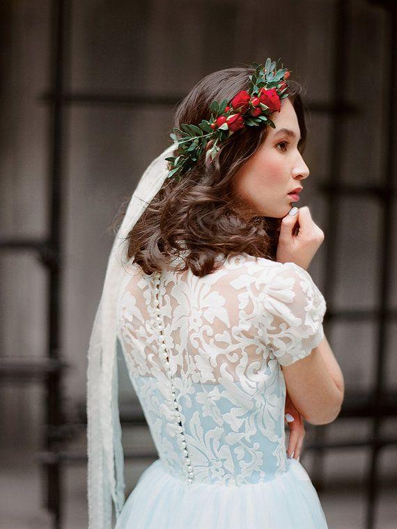 Ilaria Sky Blue Tulle Wedding Dress Modest Wedding Gown