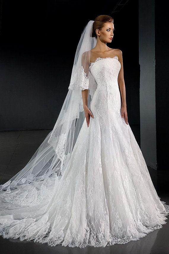 D Collet Wedding Dress Lace Wedding Dress Sleeveless Wedding Dress Sexy W