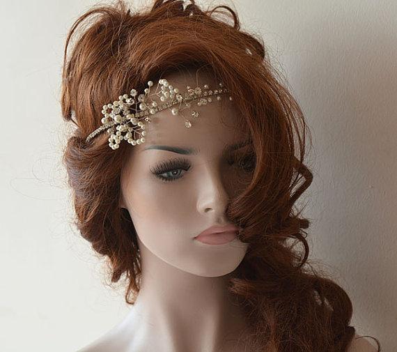 Wedding Headband Wedding Halo Bridal Hair Vine Wedding Headpiece Halo Headpiece Boho ...