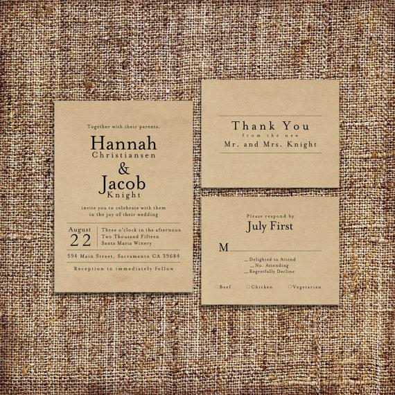 graphic about Printable Burlap Paper known as Marriage Invitation Fastened DEPOSIT - Printable, Custom made, Do-it-yourself