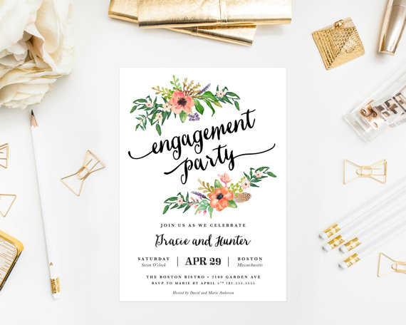 Wedding - Printed - Sweetest Day Engagement Party Invitation