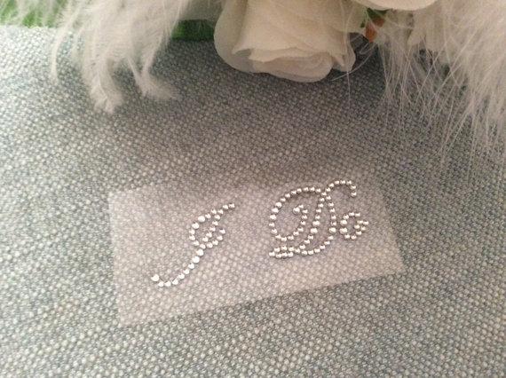 Hochzeit - I DO Stickers in Rhinestones, Wedding, Wedding Shoes, Bridal Accessory, Wedding Accessory, Shoe Accessory