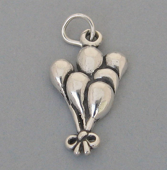 Mariage - PARTY BALLOON BOUQUET 925 Sterling Silver Charm Pendant 3821