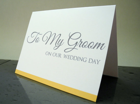 To My Groom On Our Wedding Day Card Gift From The Bride 2297929