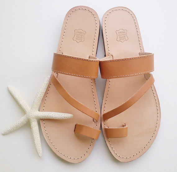 7d4bc036689 Leather Sandal Flat