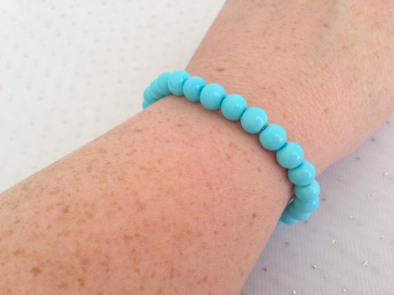 Mariage - Light Blue Bracelet, Light Sky Blue Wedding, Bridesmaid Jewelry, Light Blue Jewelry, Baby Blue Bracelet, Wedding Jewelry