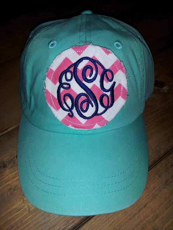 preppy monogrammed baseball cap hat bridesmaid sorority gift personalized cheap caps hats etsy vintage monogram
