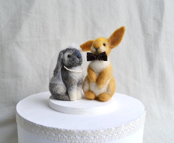 Wedding - Rabbits Wedding Cake Toppers