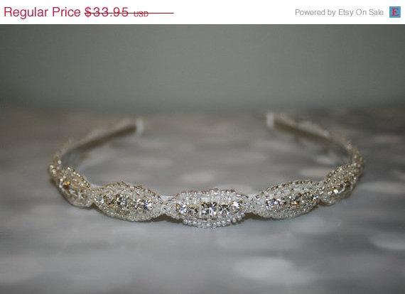 Mariage - ON SALE Wedding Hair Accessory, Rhinestone Headband, Bridal Headband, Bridal Accessories, Wedding, DAKOTA