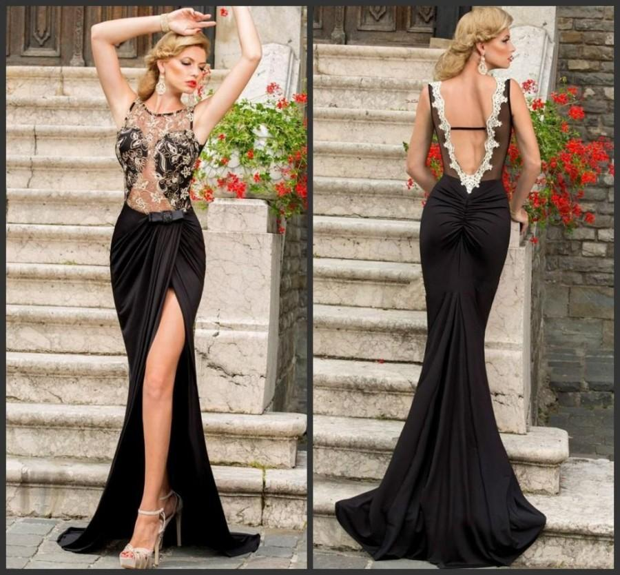 Beautiful Neck Backless 2015 Prom Dresses