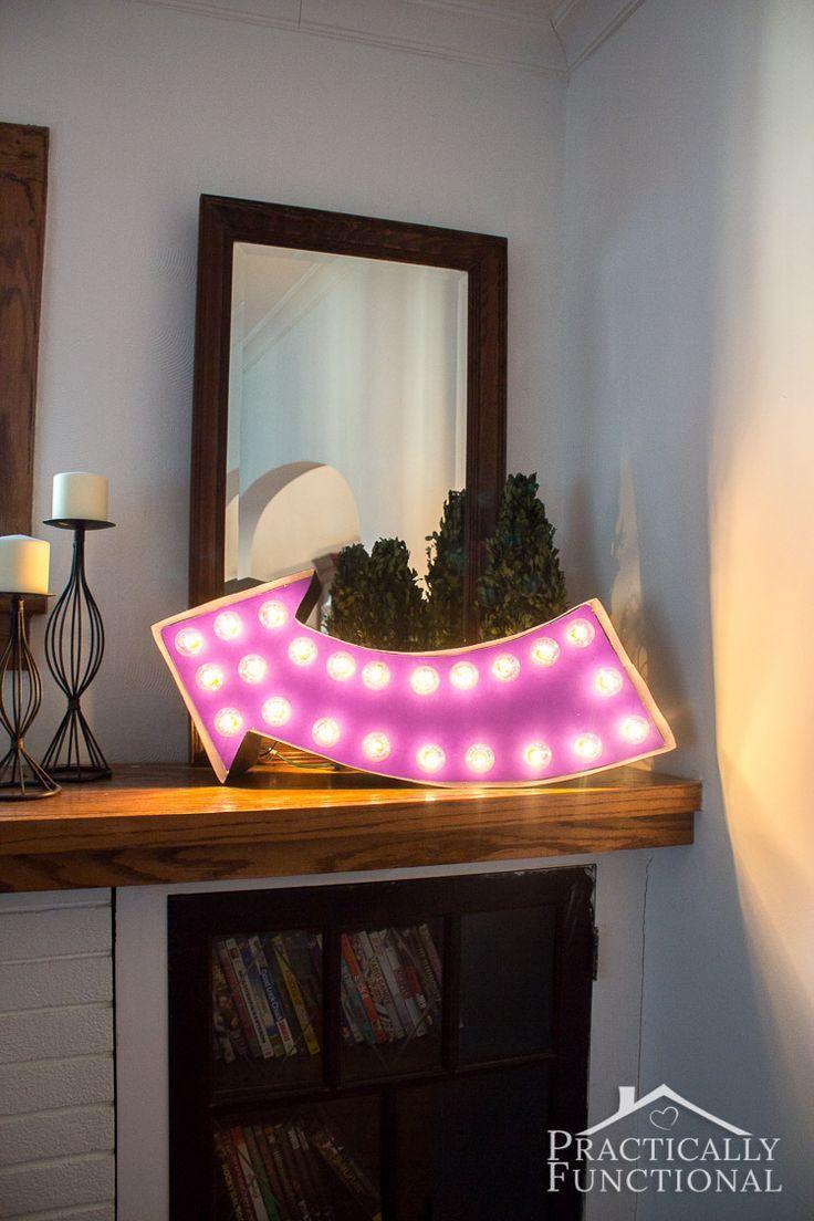 Hochzeit - DIY Lighted Marquee Sign
